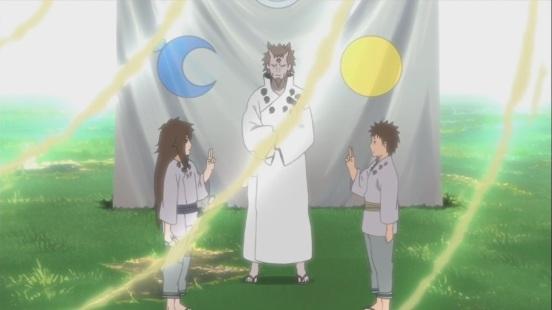 Indra and Ashura with Father Hagoromo