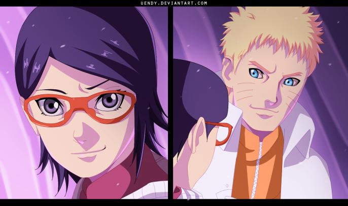 Naruto Gaiden 9 Naruto Sarada by Uendy