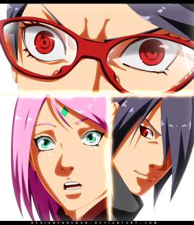 Naruto Gaiden 9 Sarada protects by designerrenan
