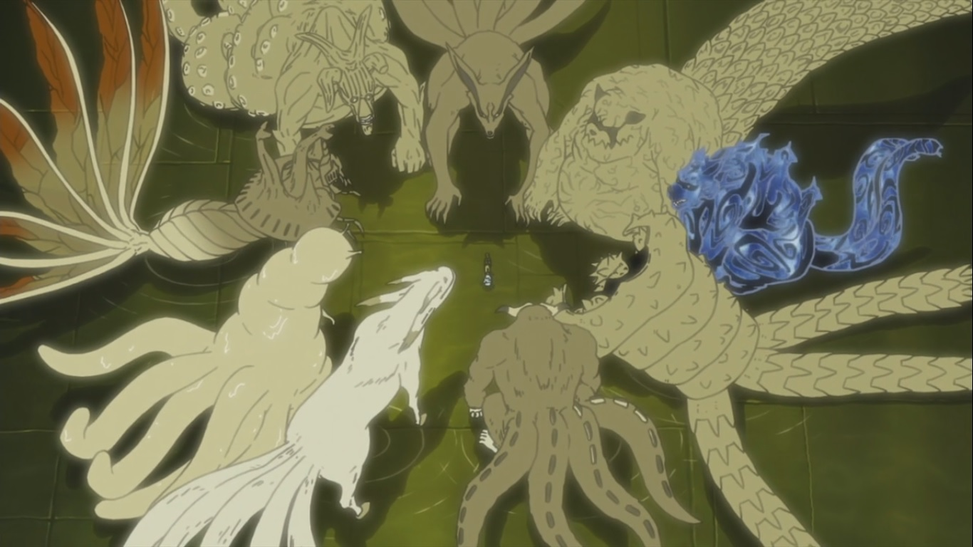 Naruto Hagoromo and All Tailed Beasts   Daily Anime Art