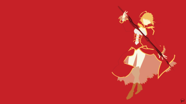 Nero Fate Stay Night Minimalist Wallpaper by greenmapple17