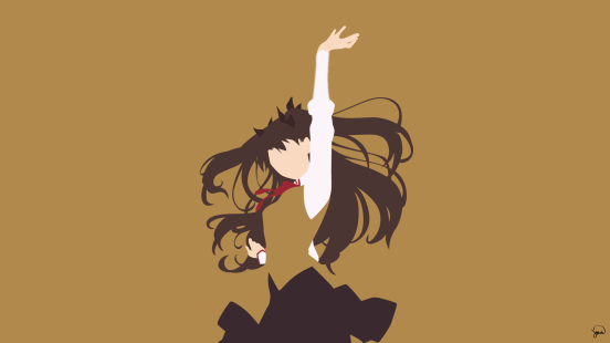 Rin Tohsaka Fate Stay Night Minimalist Wallpaper by greenmapple17