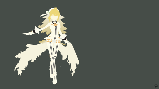 Saber Bride Fate Stay Night Minimalist Wallpaper by greenmapple17