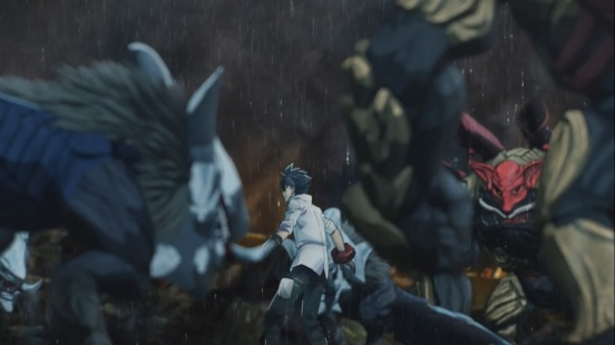 Utsugi surrounded by Aragami