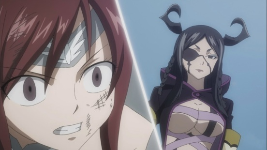 Erza notices Minerva