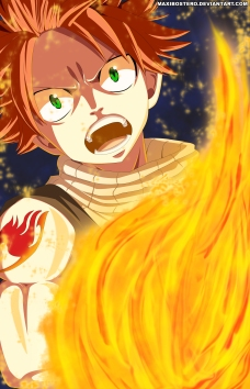 Fairy Tail 448 Natsu Dragneel by maxibostero
