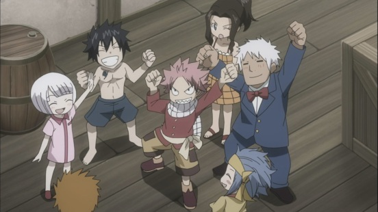 Fairy Tail kids having fun