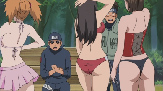 Iruka and Ebisu with woman