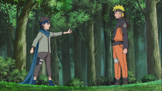 Konohamaru and Naruto