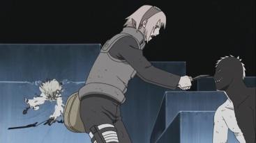Madara appears to Sakura and Obito