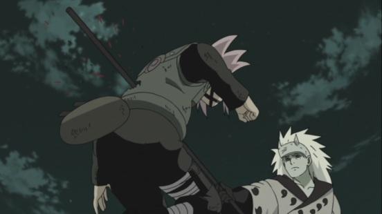 Madara stabs Sakura