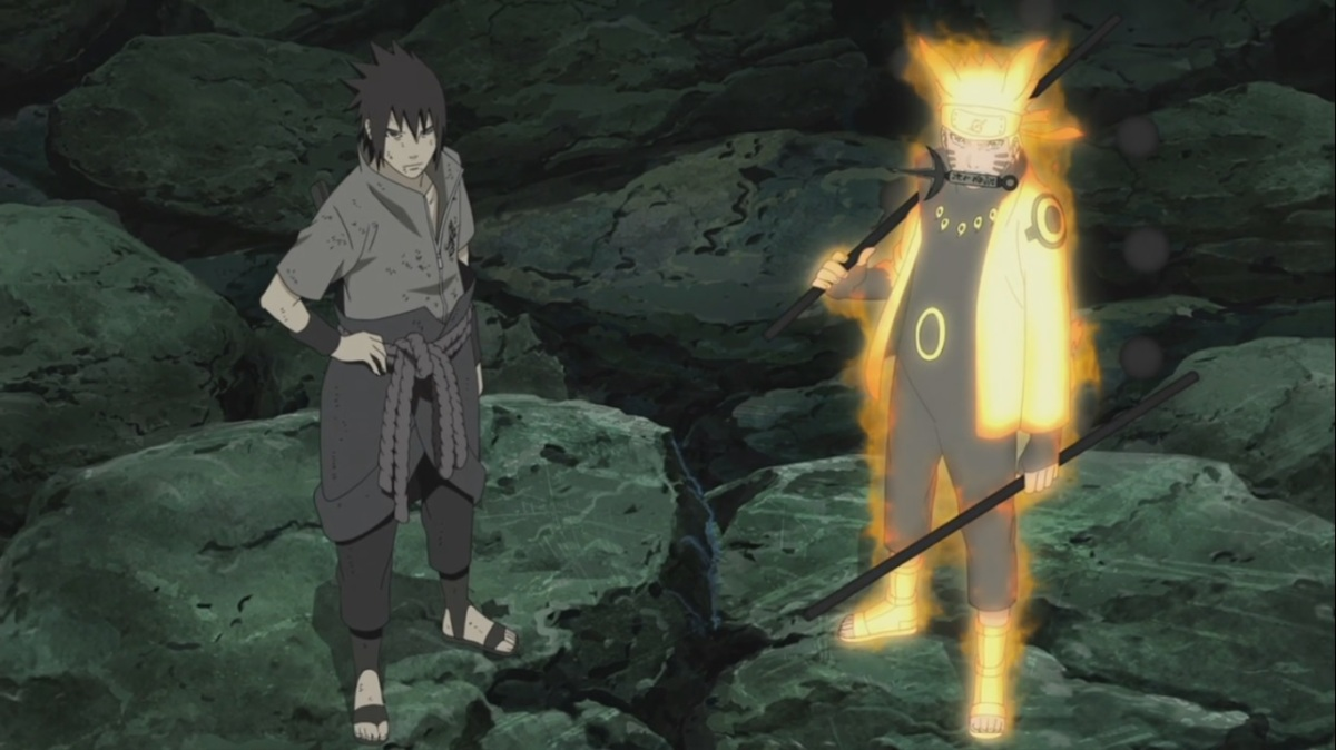 naruto and sasuke vs madara final battle naruto shippuden 424