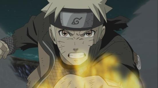 Naruto battles on