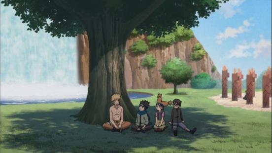Naruto with Konohamaru and kids
