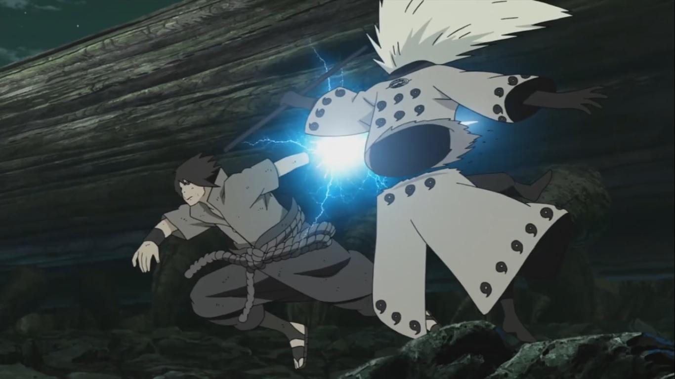 sasuke cuts madara daily anime art