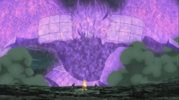 Susanoo in front of Naruto