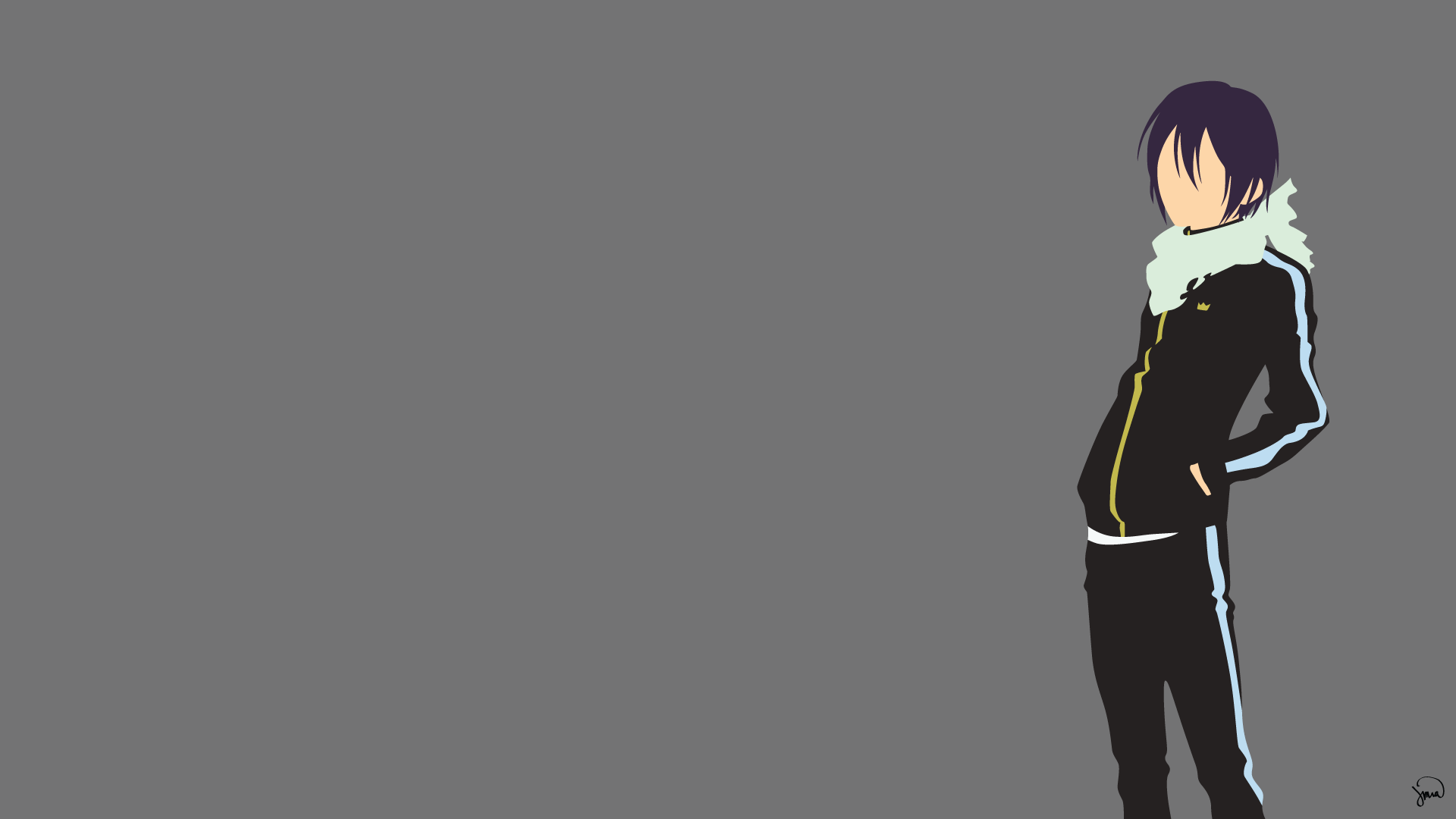 Yato Noragami Minimalist Wallpaper By Greenmapple17  Daily Anime Art