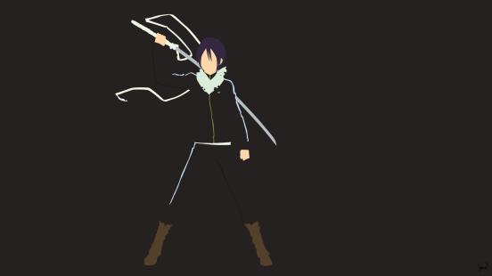 Yato Sword Noragami Minimalist Wallpaper by greenmapple17