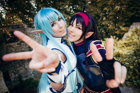 Asuna and Yuuki Sword Art Online Cosplay by K-I-M-I