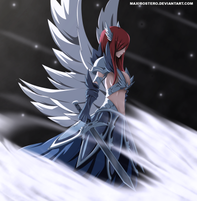 Fairy Tail 454 Erza Heavenly Armor by maxibostero