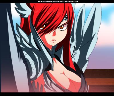 Fairy Tail 454 Erza Scarlet Titania by Sawadatsuna-kun