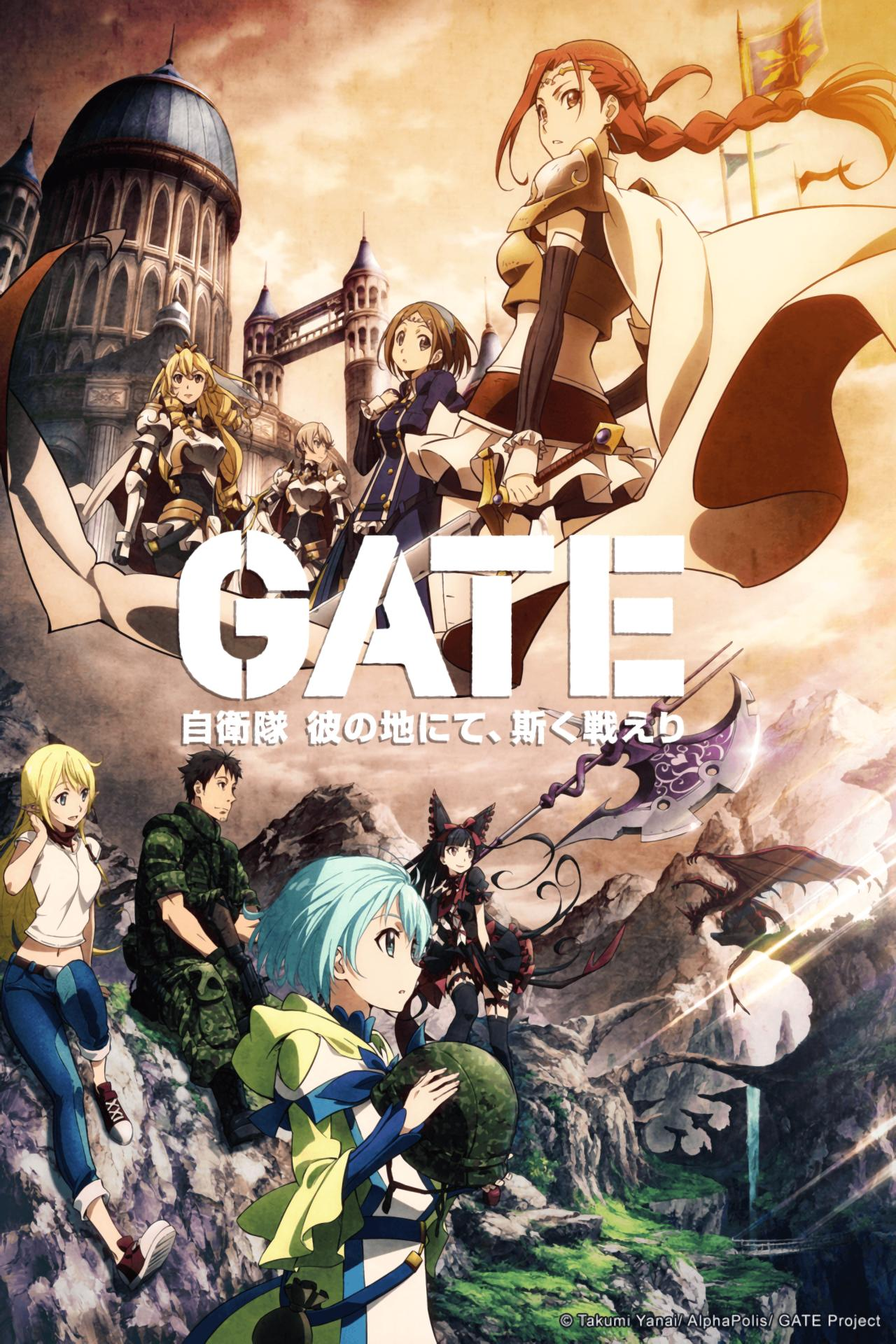 Download Gate : Jieitai Kanochi nite, Kaku Tatakaeri Season 1 Episode 1-12 Sub indonesia