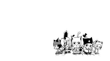 Happy Cats of Fairy Tail Manga Wallpaper