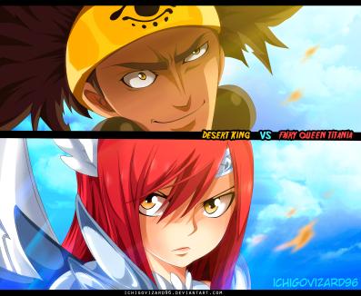 Fairy Tail 455 Azir vs Erza by Ichigovizard96