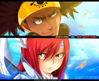 Fairy Tail 455 Azir vs Erza by Ichigovizard96