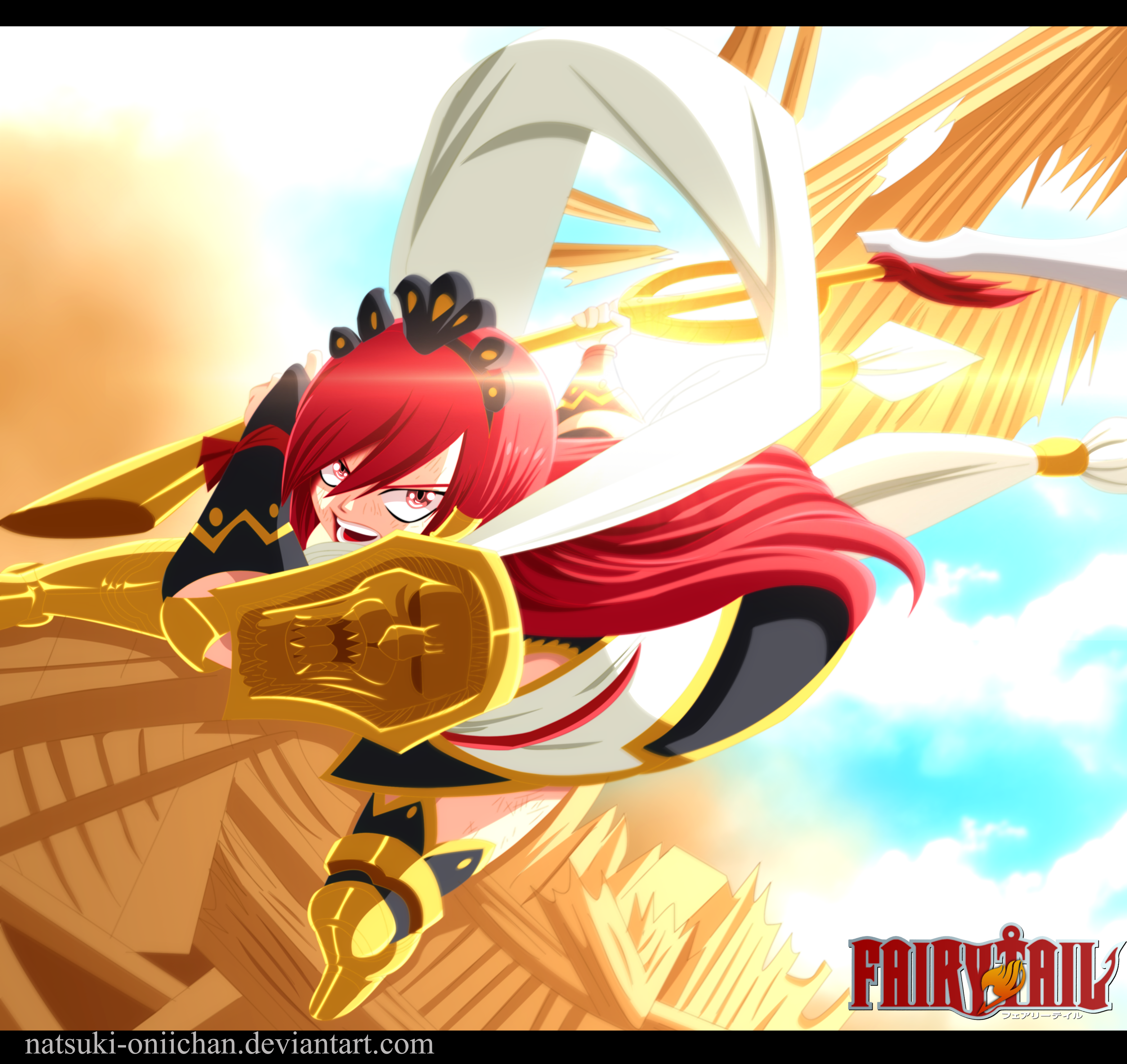 Erza defeats azir morning star fairy tail 458 daily - Image fairy tail erza ...