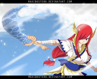 Fairy Tail 458 Erza Neptune Sword by Maxibostero