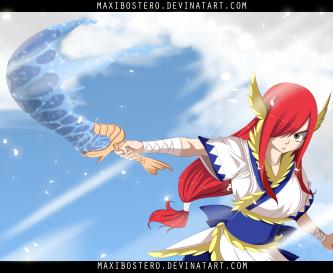 Fairy Tail 458 Erza Neptune Sword by Maxibostero