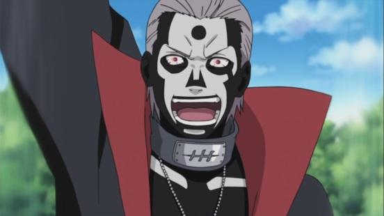 Hidan traps Naruto