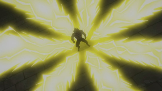 Laxus attacks Tempesta