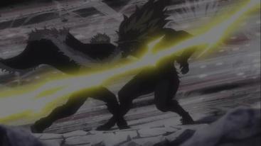 Laxus attacks Tempester