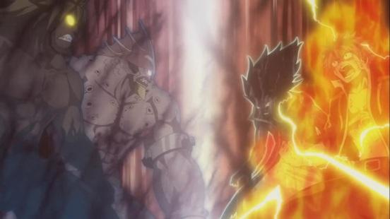 Tempesta Torafusa vs Natsu and Gajeel