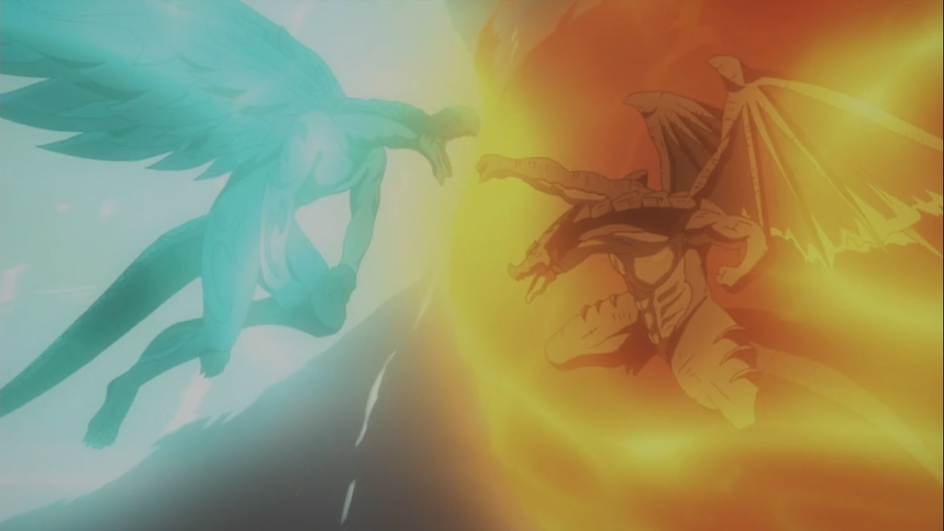 Igneel Fights Acnologia To The Death