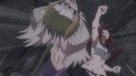 Erza punches Kyoka