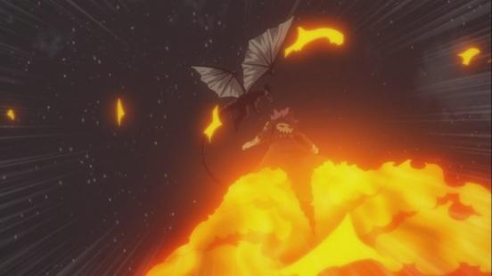Natsu fly's towards Igneel