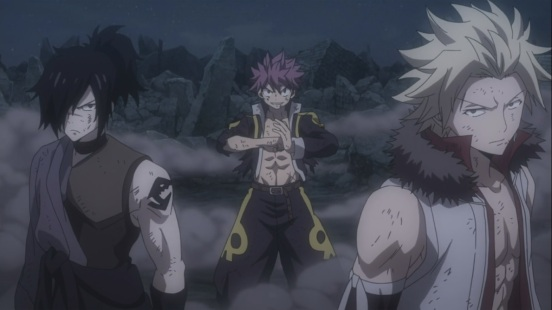 Natsu Sting and Rogue
