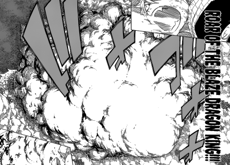 Natsu's Roar of the Blaze Dragon King