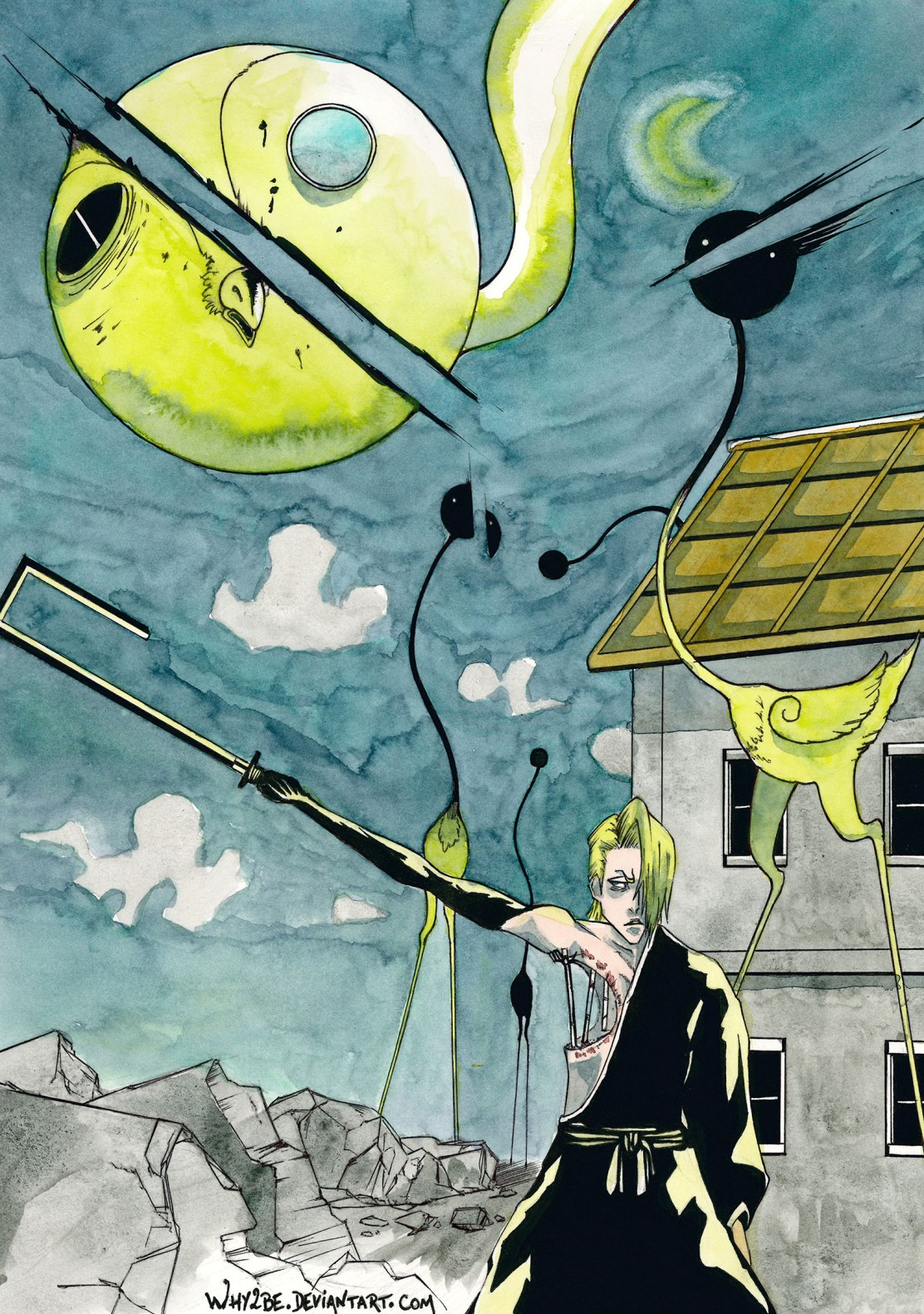 Bleach Izura Kira Lille Barro by Why2Be