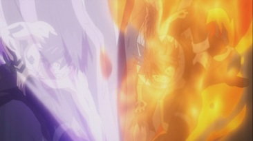 Gray and Natsu attack Mard Geer