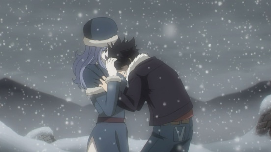 Gray cries in front of Juvia