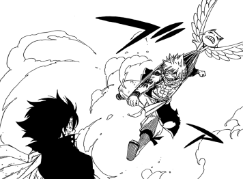 Happy Stops Natsu attacking Zeref