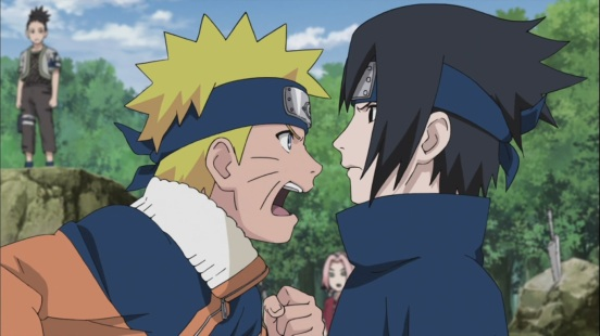 Naruto and Sasuke Argue