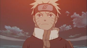 Naruto looks at explosion