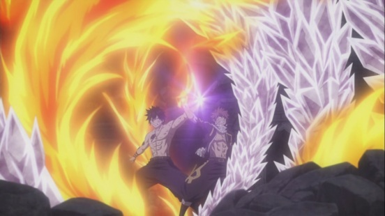 Natsu and Gray Fire and Ice
