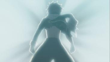 Natsu looks upon Igneel's death