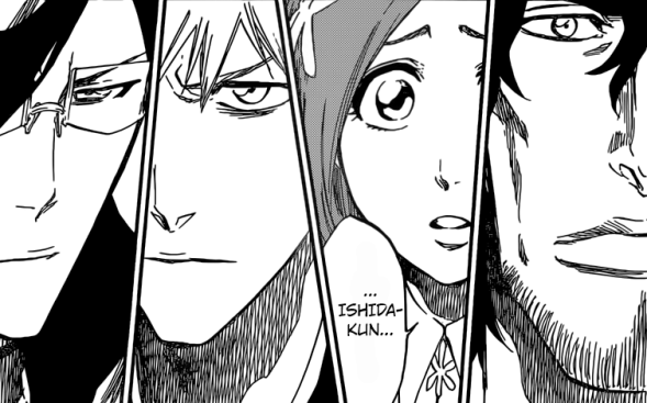Chad Orihime Ichigo and Uryu meet again